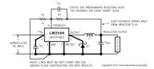 Схема с регулируемым выходным напряжением lm2596