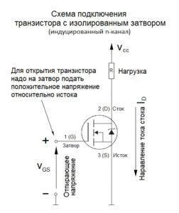 MOSFET схема работы с индуцированным каналом