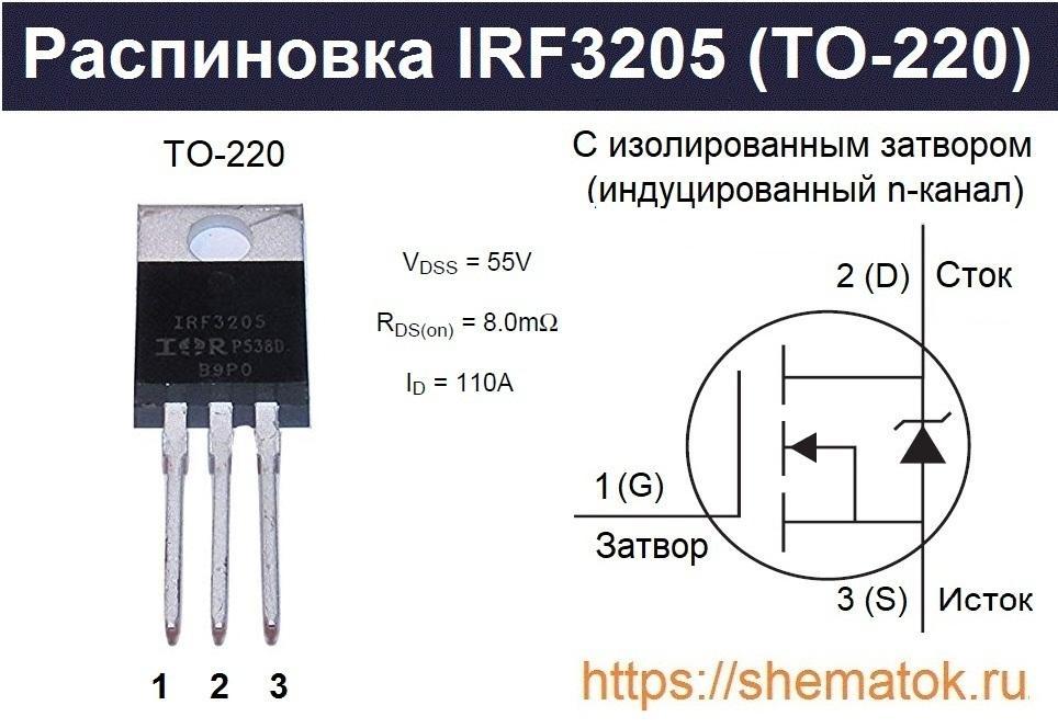 IRF3205 цоколевка