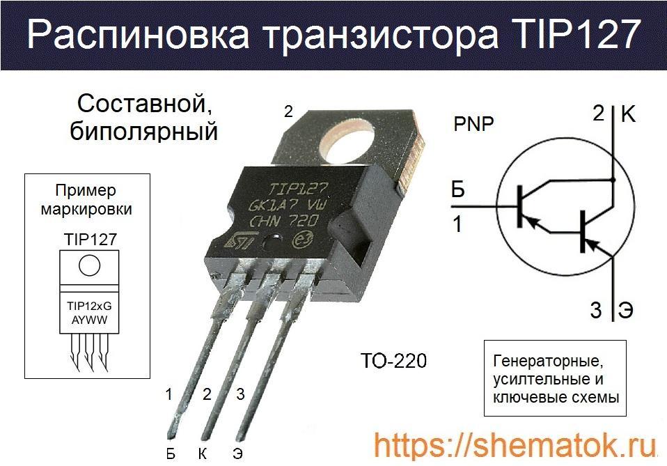TIP127 цоколевка