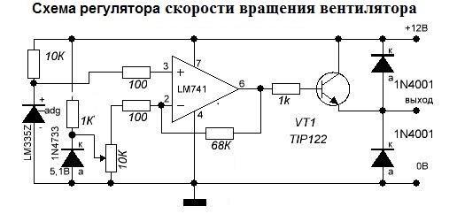 Схема регулируемой скорости охлаждения
