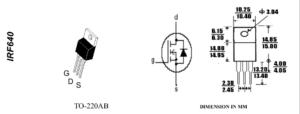 Цоколевка IRF640