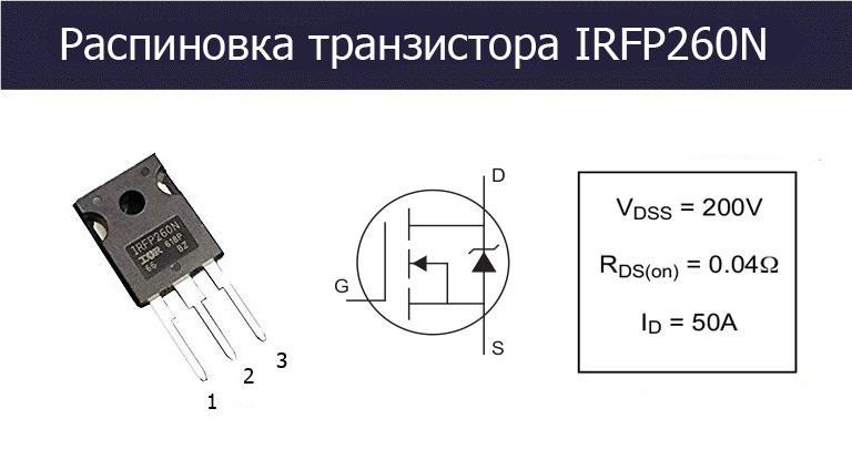 IRFP260N цоколевка