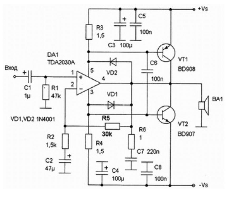 применение транзисторов с TDA203