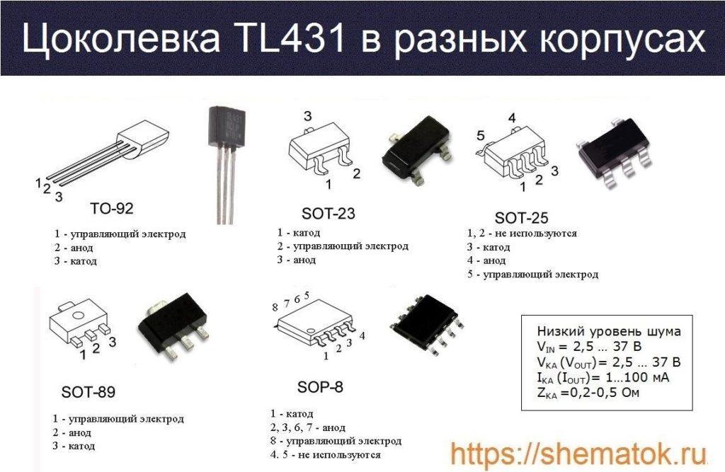Цоколевка корпусов tl413