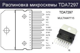 цоколевка tda7297