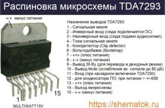 цоколевка tda7293