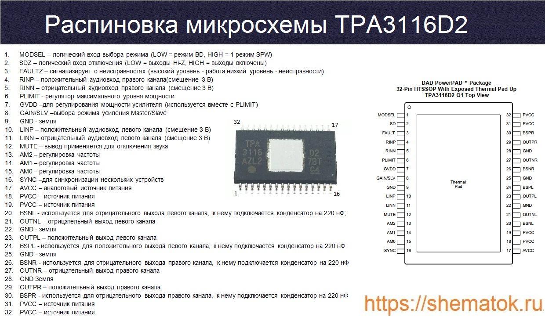 цоколевка tpa3116d2