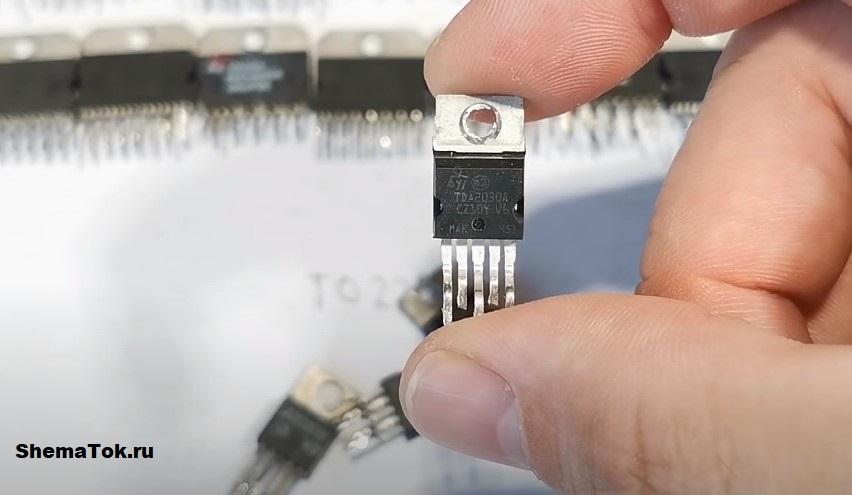 В корпусе TO220-5 микросхема TDA