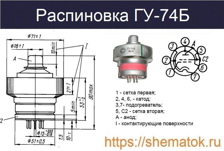 Распиновка ГУ-74Б