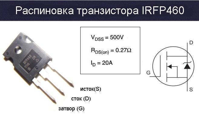 Распиновка IRFP460