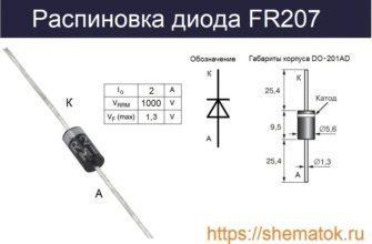 Распиновка FR207