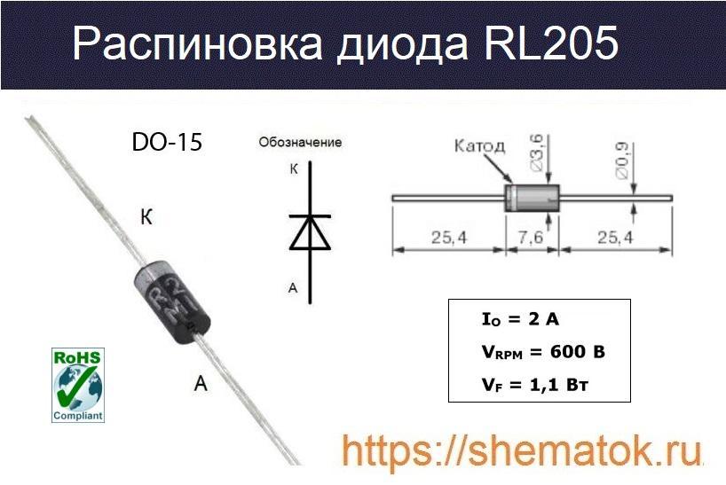 Распиновка RL205