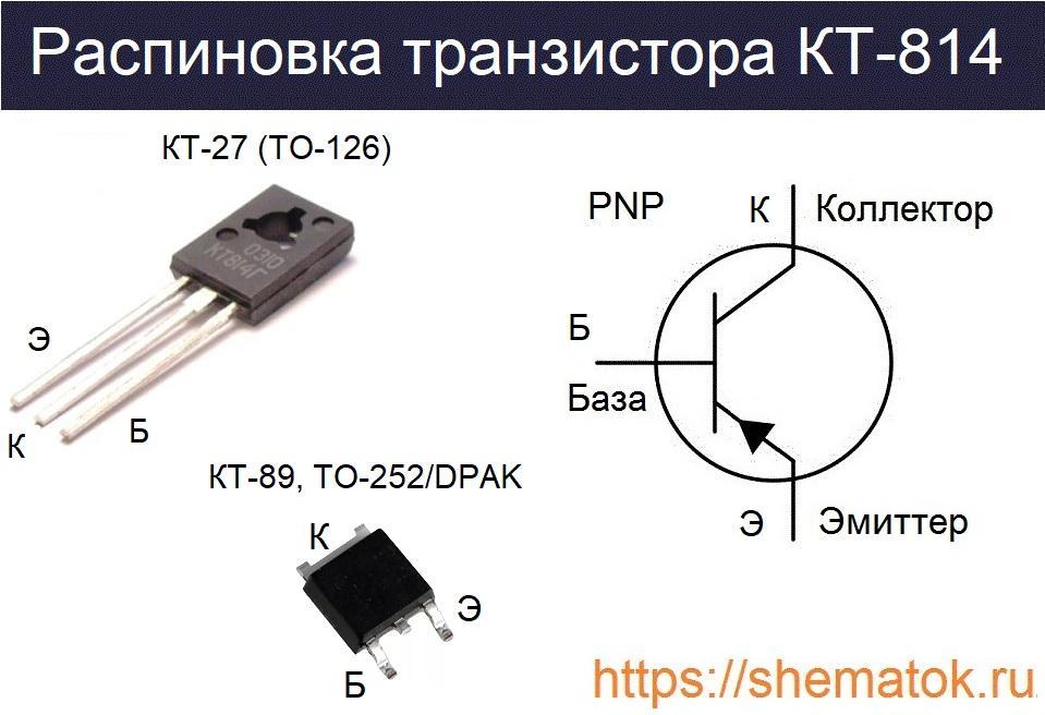 кт814 цоколевка